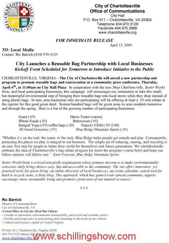 charlottesville-bag-press-release