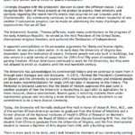 Sullivan Letter Alumni